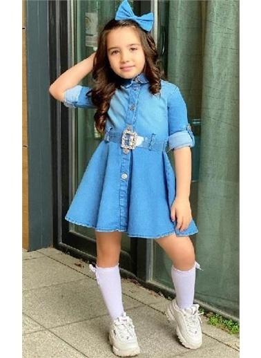Riccotarz Kız Çocuk New Denim Elbise Mavi